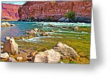 Pariah Riffle Near Lee's Ferry In Glen Canyon National Recreation Area-arizona Greeting Card