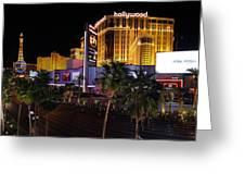 Paris And Planet Hollywood - Las Vegas - 01131 Greeting Card