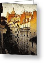 Paris Apartment View Of Montmartre Greeting Card