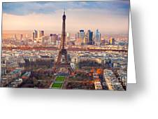 Paris At Sunset Greeting Card