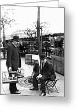 Paris Bird Vendors, 1900 Greeting Card