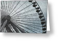 Paris Blue Ferris Wheel Greeting Card