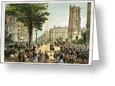 Paris Boulevard, 1859 Greeting Card