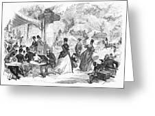 Paris: Boulevard, 1872 Greeting Card