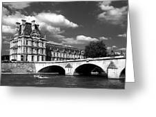 Paris Building In Bw Greeting Card