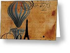 Paris By Postcard Greeting Card