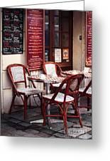 Paris Cafe Greeting Card by John Rizzuto