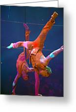 Paris Circus Acrobats Greeting Card
