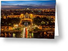 Paris City From The Eiffel Tower Greeting Card