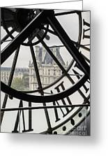 Paris Clock Greeting Card