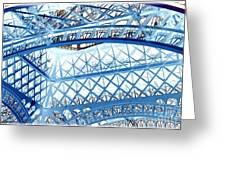 Paris Design In Blue Greeting Card