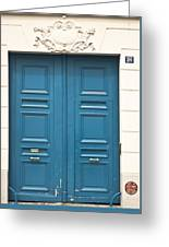 Paris Door Greeting Card