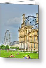 Paris Ferris Wheel Greeting Card