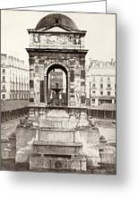 Paris Fountain, C1858 Greeting Card