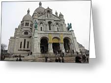 Paris France - Basilica Of The Sacred Heart - Sacre Coeur - 12122 Greeting Card