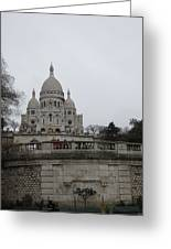 Paris France - Basilica Of The Sacred Heart - Sacre Coeur - 12129 Greeting Card