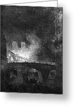 Paris, France Fire, 1773 Greeting Card