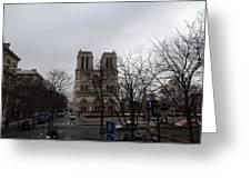 Paris France - Notre Dame De Paris - 011311 Greeting Card