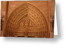 Paris France - Notre Dame De Paris - 01136 Greeting Card by DC Photographer
