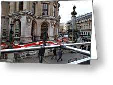 Paris France - Street Scenes - 0113115 Greeting Card