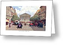 Paris France - The Rue Royal And The Madeleine - 1910 Greeting Card