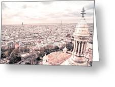 Paris From Above - View From Sacre Coeur Basilica Greeting Card