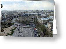 Paris From Notre Dam Greeting Card