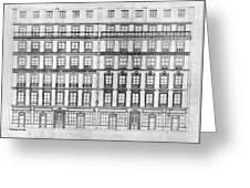 Paris Houses, 1841 Greeting Card