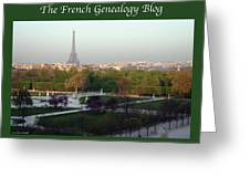 Paris In The Fall With Fgb Border Greeting Card by A Morddel
