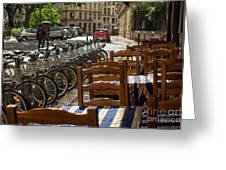 Paris In The Rain Greeting Card