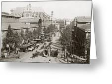 Paris: Les Halles, C1900 Greeting Card