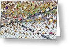 Paris - Locks Of Love Greeting Card