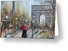 Paris Lovers II Greeting Card