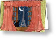 Paris Moonlight Greeting Card