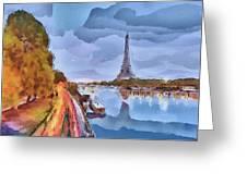Paris Nights Greeting Card