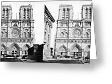 Paris Notre Dame, C1860 Greeting Card