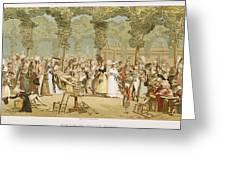 Paris Palais Royal, C1780 Greeting Card