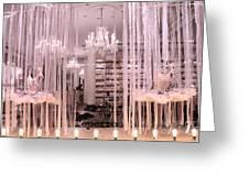 Paris Repetto Ballerina Tutu Shop - Paris Ballerina Dresses Window Display  Greeting Card