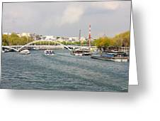 Paris River Cityscape Greeting Card