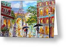 Paris Romance Greeting Card