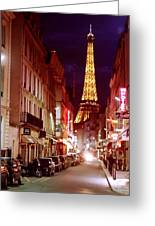 Paris Romantic Night Lights Greeting Card