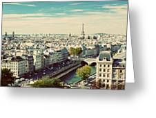 Paris Skyline France. Eiffel Tower Greeting Card