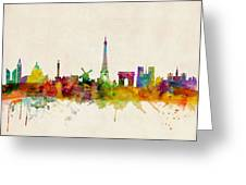 Paris Skyline Greeting Card