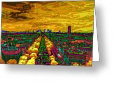 Paris Skyline Pop Art Greeting Card