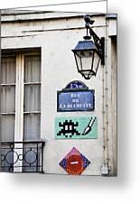 Paris Street Art - Space Invader Greeting Card