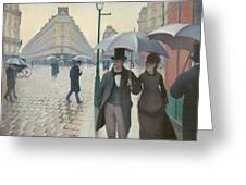 Paris Street In Rainy Weather Greeting Card