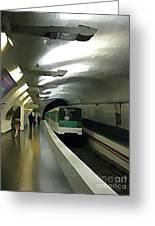 Paris Subway  Greeting Card