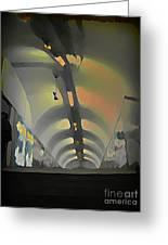 Paris Subway Tunnel Greeting Card