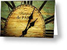 Paris Time Greeting Card
