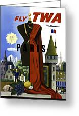 Paris Twa Greeting Card by Mark Rogan